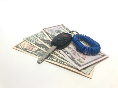 Car Payment Concept on white background