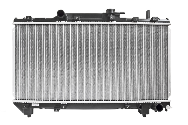 Automobile radiator, engine cooling system isolated on white background